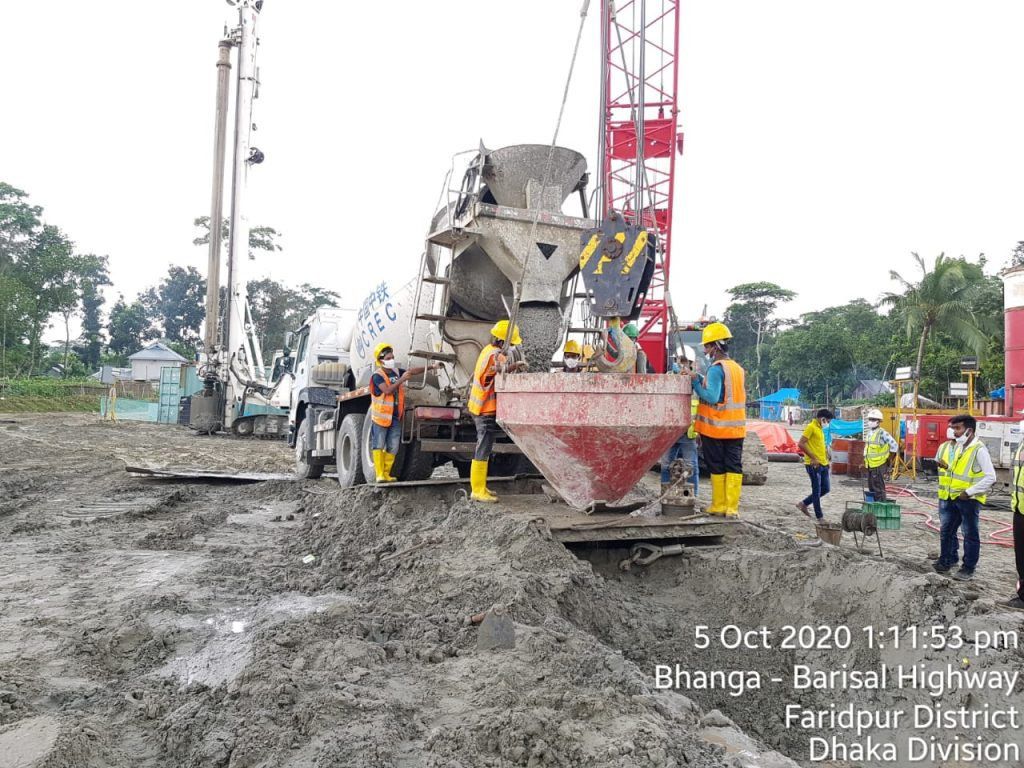 Bridge II-03, Pile ID A2-3-3, concreting work